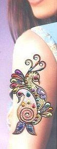 glitter arm tattoos