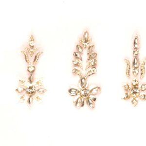 Designer silver bindi